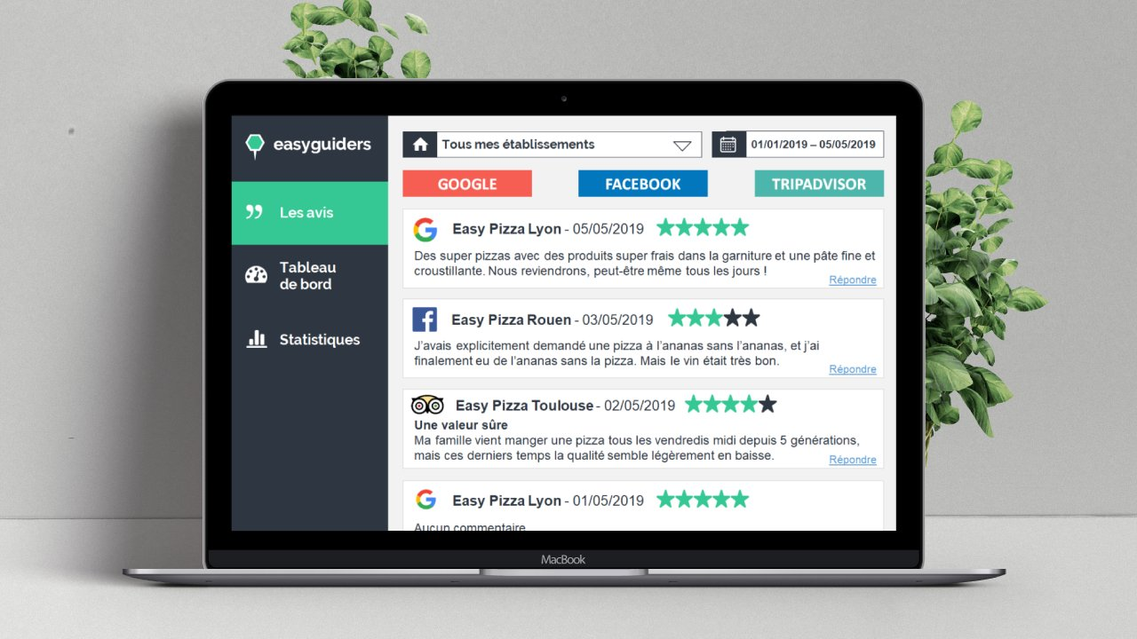 Interface avis en ligne