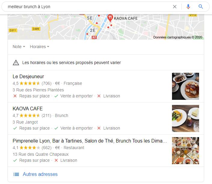 Top résultat Google